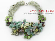 Elegant Jade and Lemon Stone Agate Necklace