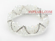 Crystal Stretch Bangle Bracelet with Rhinestone