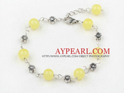 Lovely citrine bracelet with extendable chain is sold at US$ 1.53