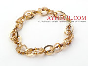 Fashion Style BrownPearlCrystal Necklace