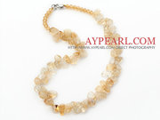 Yellow Series Irregular Shape Top Drilled Citrine and Yellow Crystal N