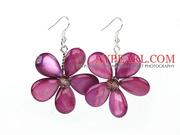 Purple Red Flower Earrings at Aypearl.com