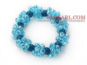 Sky Blue Series Faceted Blue Crystal and  Bracelet