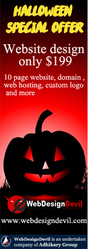 Halloween Offer 10 Page Website Design $199