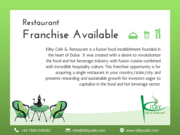 Kilby Cafe & Restaurant Available For Franchise