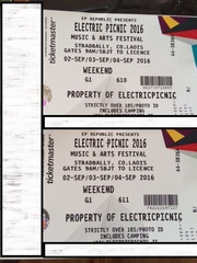 2 x Electric Picnic Tickets